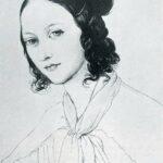 Clara Wieck en 1836. Desin au crayon noir d'Elwine von Leyer